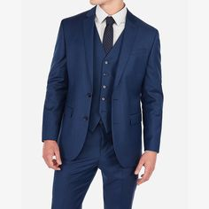 This dashing suit jacket elevates your looks for dinner parties, dates and beyond. Pair with the matching pant and vest for a must-have ensemble. Express Coupons, Blue Wool, Color Of The Year, Wool Blend, Suit Jacket, Classic, Jackets, Clothes, Fashion