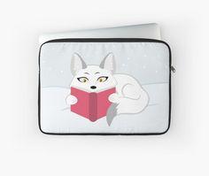 Reading Fox Laptop Sleeve #fox #foxes #arctic #reading #animals