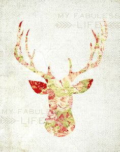 Deer Silhouette - look around on her shop page... other great stuff