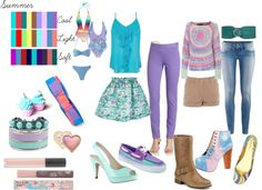 """""""Summer Palette"""" by hollyml ❤ liked on Polyvore"""