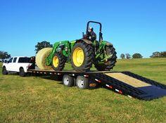 2015 Big Tex 22GN 35' Gooseneck Flatbed Hydraulic Dovetail Trailer