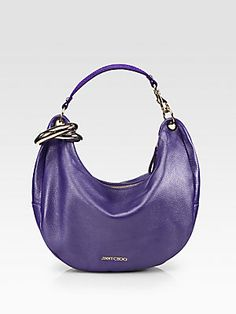 3011f0244ab1e I am in love with this color. Jimmy Choo Metal Bangle Mixed-Media Hobo