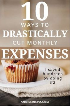Are you trying to find ways to drastically cut your monthly expenses? If so, we have 10 things you can do to REALISTICALLY cut your monthly expenses. You won't believe how much you can save with number Money Saving Mom, Best Money Saving Tips, Ways To Save Money, Money Tips, Money Budget, Savings Challenge, Money Saving Challenge, Frugal Living Tips, Frugal Tips