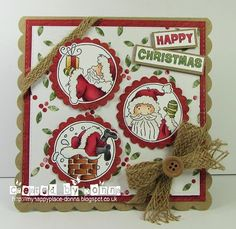 LOTV - Santa Trio with Christmas Joys Paper Pad by Donna Mosley