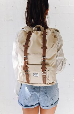 ShopStyle Look by migshn featuring Herschel Supply Co. Settlement and Herschel Supply Co. Herschel Backpack Outfit, Backpack Bags, Fashion Backpack, Messenger Bags, Herschel Backpack Little America, Camera Backpack, Duffle Bags, Travel Backpack, Travel Bags