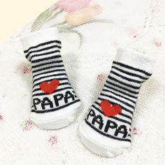 fcfc3c957c9fb 2018 cute Love Papa Mama baby Socks Girls Boys baby sokjes Soft Socks  Newborn Toddler Stripe Newborn Socks meia infantil 0-6M