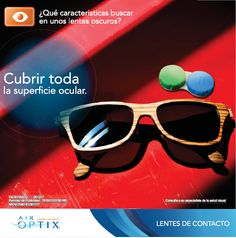 Compra los lentes oscuros que vayan a cuidar tus ojos.  #ojos #LentesOscuros #Lentes #Armazón #LentesDeContacto #salud #eyes Coding, Eye Contact Lenses, Darkness, Eyes, Summer Time, Health, Cover, Forts, Programming
