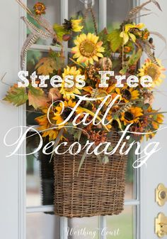 No Stress Easy Fall Decorating Tips | Worthing Count -  Featured on #HomeMattersParty 104