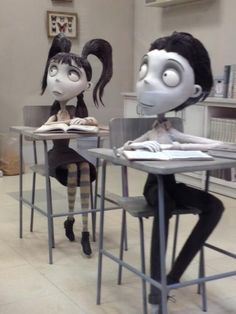 When sets are designed for filming in black and white - Frankenweenie