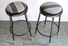 Chairs With Farmhouse Table Info: 6966258228 Bar Stool Makeover, Furniture Makeover, Upcycled Furniture, Painted Furniture, Build Your Own Sofa, Farmhouse Stools, Comfortable Living Room Chairs, Compact Table And Chairs, Industrial Stool