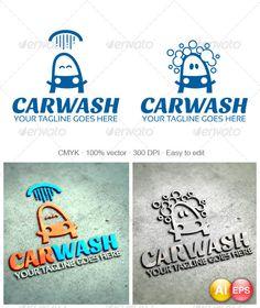 Carwash Logo Here is a ' Car Wash Systems, Detail Car Wash, Car Workshop, Automotive Logo, Web Design, Logo Design, Portfolio Logo, Ai Illustrator, Car Logos