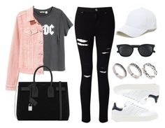 Sin título #12406 by vany-alvarado on Polyvore featuring H&M, Miss Selfridge, adidas Originals, Yves Saint Laurent, ASOS and Sole Society