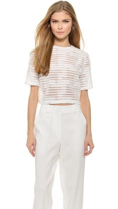Public School Boxy Crop Top
