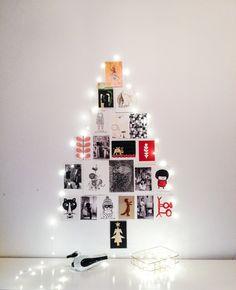 Postcard christmas tree at http://diydiyblogi.blogspot.fi/