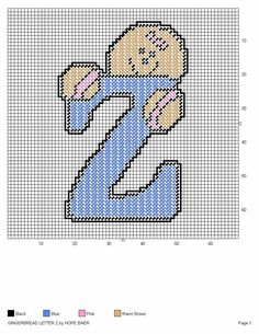 GINGERBREAD LETTER Z by HOPE BAER
