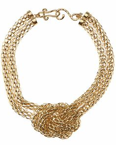 Kenneth Jay Knot Necklace from RueLaLa