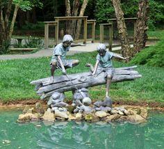 Statuary at Gibbs Garden.