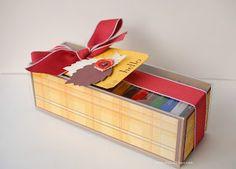 """StampinUp! Verpackung Schokolade Geschenkschachtel Schnelle Überraschung Designerpapier """"für kühle Tage"""" Herbstzauber, Happy Day"""