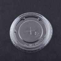 12, 16, 21, 22, 24 oz. Clear Plastic Lid with Straw Slot - 100 / Pack