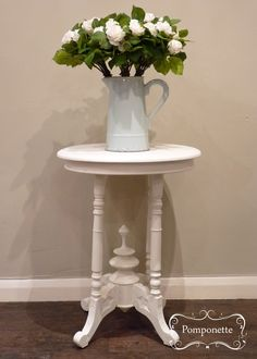 Small Side Table. This sweet side table was given a makeover using classic @anniesloanhome Original #chalkpaint | by Pomponette | Leicester | SOLD