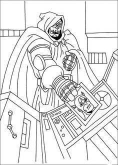 Captain America Målarbilder för barn. Teckningar online till skriv ut. Nº 11