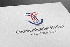 Communicative Nation Logo by BdThemes on @creativemarket