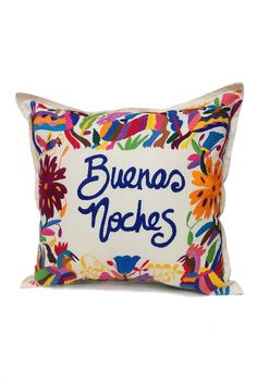 $93.00 Otomi Embroidered Pillow -