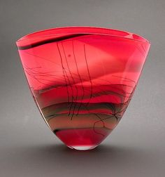 Kimono Series Fan Vase-small: Steven Main: Art Glass Vase - Artful Home