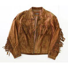 Vintage Fringe Suede Jacket- Brown leather coat-western- Tassel... ($120) ❤ liked on Polyvore featuring outerwear, jackets, fringe, cowboys jacket, suede jackets, vintage fringe jacket, brown fringe jacket and cowboy leather jacket
