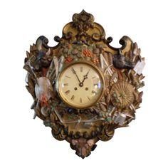 Wall Desk, Desk Clock, Clock Repair, Unusual Clocks, Bee Skep, Wood Animal, Curved Glass, Farm Yard, French Antiques