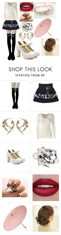 """Gemini City: Tokyo, Japan"" by kiara-fleming ❤ liked on Polyvore featuring Shaun Leane, Michael Kors and Shoes Galore"