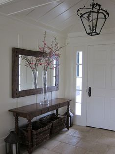 Entryway With Mirror Idea | Spaces Entryway Mirror Design, Pictures,  Remodel, Decor And