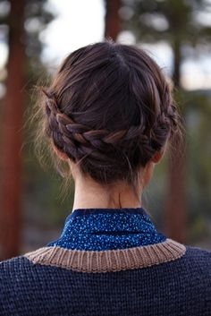 Samantha in a winter braid for FOAM Magazine #tarteofgiving