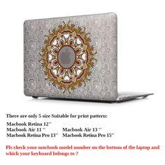 Elegant Designer Paisley Print Matte Case for Laptop 6 Colors 7 Sizes