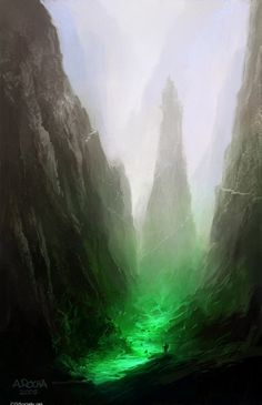 A valley in the Kingdom of the Daemoni in the north flowing with poisonous power.