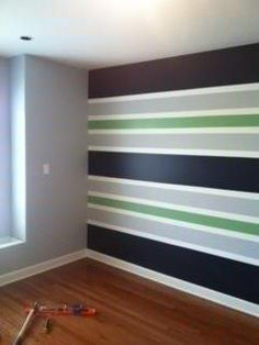 Horizontal stripes on walls 15 modern interior decorating for Painting stripes on walls in kids room