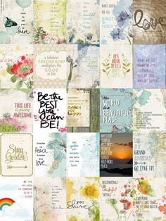 Free Project Life 3x4 Journal Cards. Links to The First Half of 50 Cards in 50 Days from Katie Pertiet