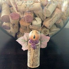 Angel wine cork Christmas ornament