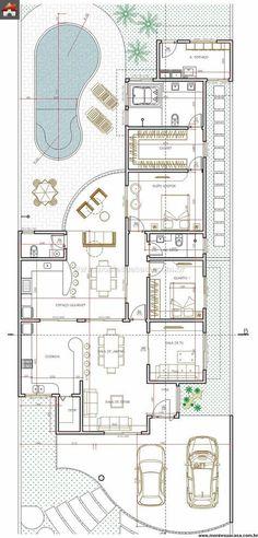 Pinterest: @claudiagabg | Casa 2 cuartos 1 sala de tv piscina
