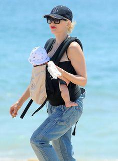 Gwen Stefani takes her boys Kingston, Zuma and Apollo to the beach