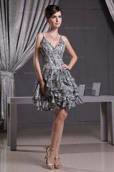 Sexy Beaded Leopard-print Chiffon Dress