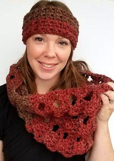 Crochet Cowl and Ear Warmer/Headband Set