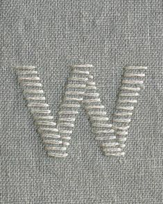 Learn to Embroider an Alphabet