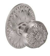 Ornate floral door knob with oval floral rose #FlowerShop