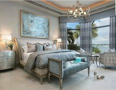 "9,304 Likes, 85 Comments - Grace R (@lovefordesigns) on Instagram: ""Dreamy bedroom with a perfect pop of color... . By Studio M Interiors #lovefordesigns#homedecor…"""
