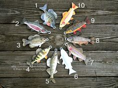Magnetic Fishing Game Trout and Aquatic Insects, Felt Realistic Fish Game, Golden Rainbow Brook Brown Rainbow Trout Educational Imaginative Fish Ornaments, Christmas Ornaments, Fishing Games For Kids, Happy Fishing, Aquatic Insects, Fabric Fish, Felt Fish, Two Fish, Brown Trout