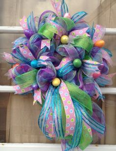 Deco Mesh Easter Wreath https://www.etsy.com/shop/IslandGirlWreaths?ref=l2-shopheader-name