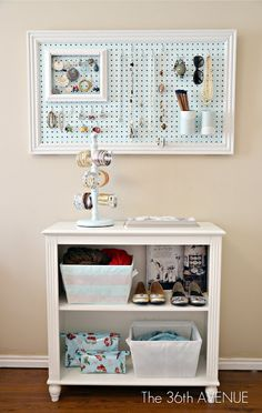The 36th AVENUE | Peg Board and Accessories Station