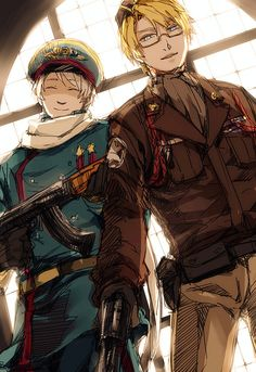 America and Russia during the Cold War , from Hetalia. Which one is the most BADASS ? Hard question ...