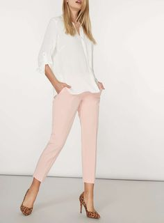 Womens Ivory Non Collar Roll Sleeve- Ivory